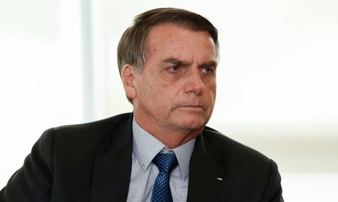 O presidente da República, Jair Bolsonaro, chega nesta segunda-feira a Davos, na Suíç,a para o Fórum Econômico Mundial Foto: Alan Santos / Agência O Globo