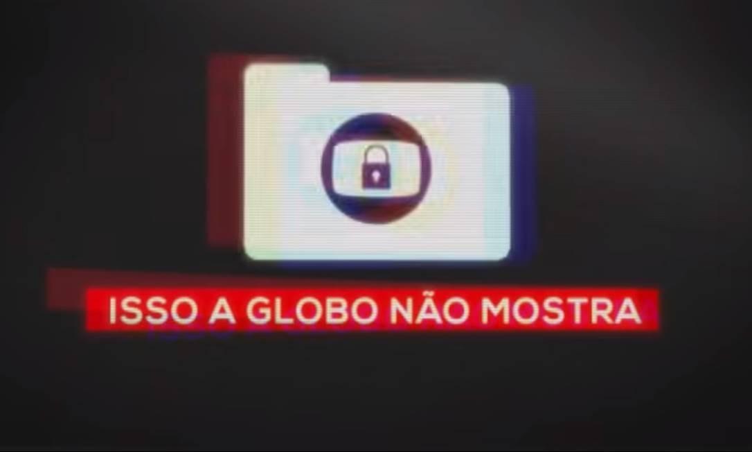Abertura do novo quadro do 'Fantástico', 'Isso a Globo não mostra' Foto: Reprodução