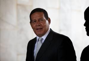 O vice-presidente Hamilton Mourão, interinamente na Presidência. Foto: Daniel Marenco / Agência O Globo