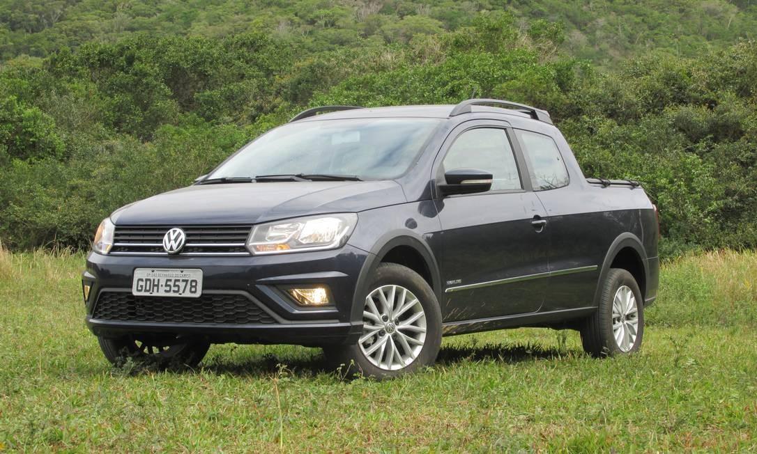 Volkswagen Saveiro: possível defeito pode ocasionar ruídos nos freios e eventuais danos à roda Foto: Roberto Dutra / Agência O Globo
