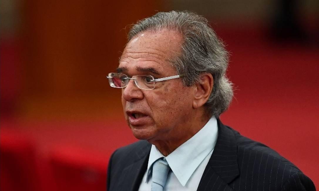 O ministro da Economia, Paulo Guedes Foto: / AFP