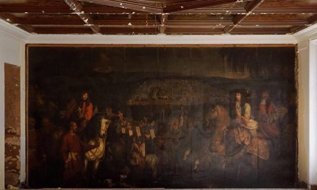 Pintura do século XVII achada em reforma da loja de Oscar de la Renta em Paris Foto: Reprodução