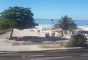 Moradores da região reclamam da insegurança no verão na Praia do Pepê Foto: Foto de leitor
