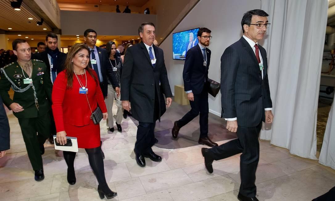 O presidente Jair Bolsonaro em Davos, na Suíça Foto: Alan Santos / PR