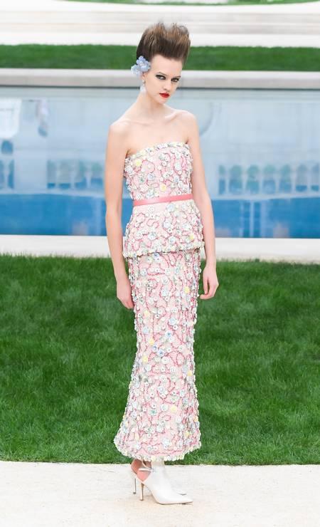 O precioso floral da Chanel Foto: Victor Boyko / Getty Images
