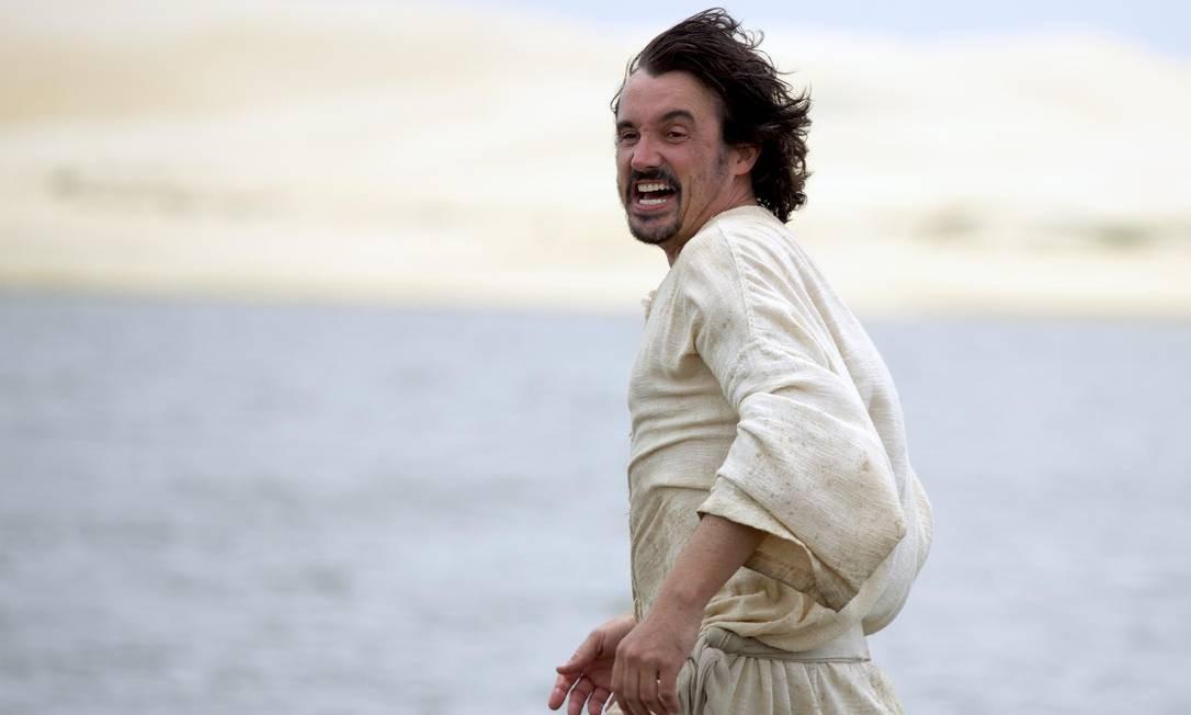 Em 2014, ele viveu um pescador no episódio 'A pesca maravilhosa', da minissérie bíblica da Record 'Milagres de Jesus' Foto: Chico Rasta / Divulgação