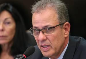 O ministro de Minas e Energia, Bento Albuquerque, durante entrevista Foto: Saulo Cruz / Saulo Cruz/MME