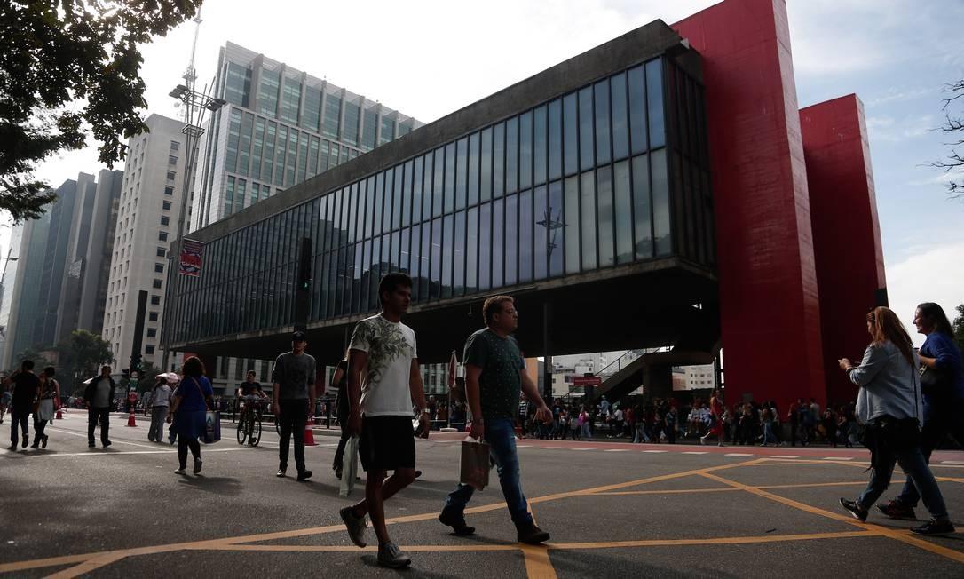 Avenida Paulista, Centro de São Paulo. Estado foi o campeão de geração de vagas Foto: Marcos Alves / Agência O Globo