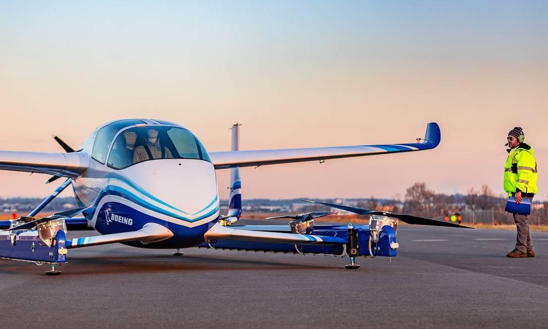 O protótipo de carro voador da Boeing Foto: Divulgação
