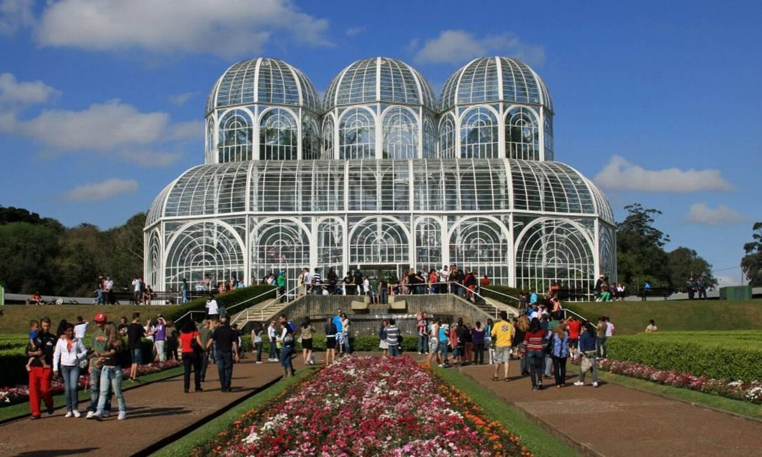 Jardim Botânico de Curitiba, capital do Paraná Foto: Halley Pacheco de Oliveira
