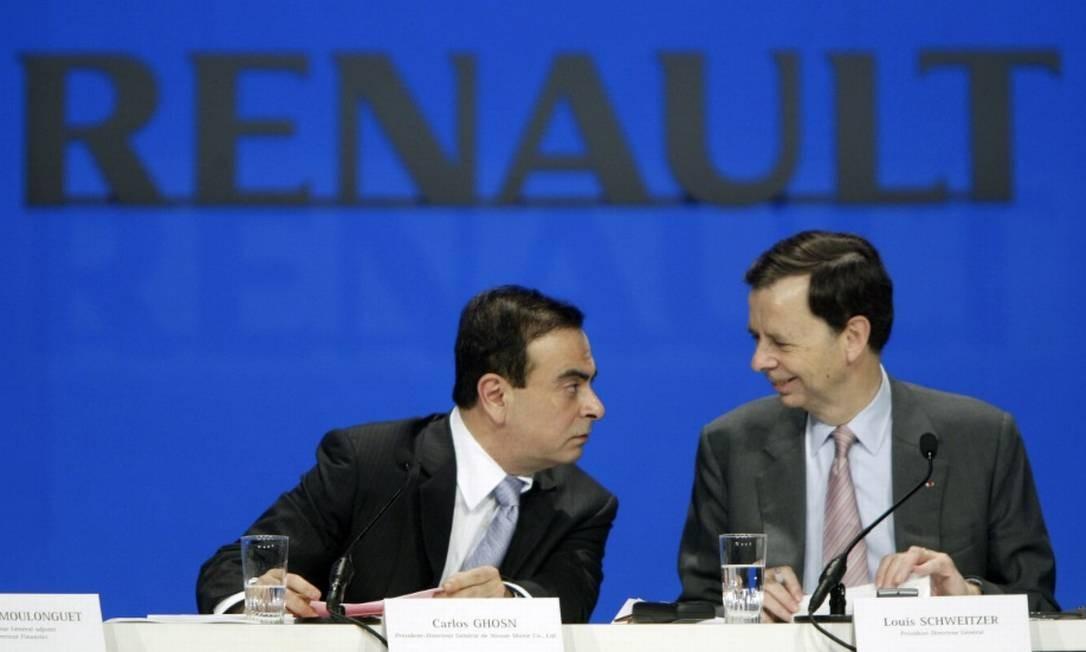 O executivo Carlos Ghosn renunciou aos cargos de presidente do conselho e CEO da Renault Foto: Bloomberg