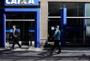 Agência da Caixa Econômica Federal Foto: Edilson Dantas / Agência O Globo