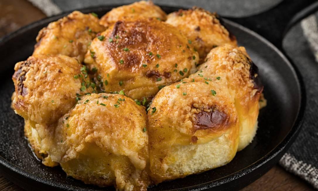 Heat Firehouse. Garlic brioche, a versão do pão de alho da casa de carnes Rodrigo Azevedo / Divulgação