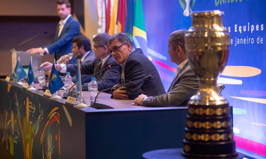 Copa América de 2019 terá o número tradicional de 12 participantes Foto: MAURO PIMENTEL / AFP