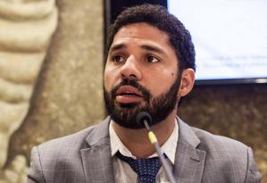 David Miranda, do PSOL, foi eleito vereador do Rio em 2016 e assumui a cadeira deixada por Jean Wyllys na Câmara dos Deputados Foto: Reprodução / Facebook