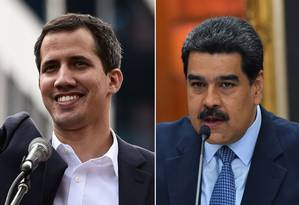 Juan Guaidó e Nicolás Maduro disputam legimitidade e poder em meio à crise na Venezuela Foto: AFP