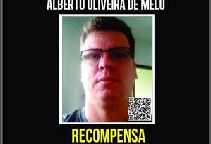 Alberto Oliveira de Melo é suspeito de ser mandante da morte do Secretário de Obras de Queimados Foto: DHBF / Reprodução