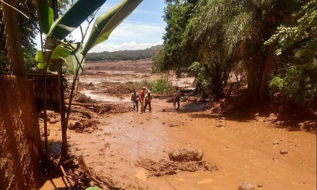 Barragem da Vale se rompe em Brumadinho (MG) Foto: Divulgação/ Corpo de Bombeiros