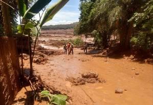 Barragem da Vale em Brumadinho (MG) se rompeu dia 25 de janeiro Foto: Divulgação/ Corpo de Bombeiros