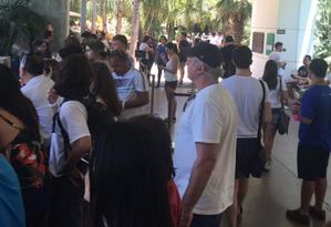 Visitantes são evacuados do Instituto Inhotim, em Brumadinho (MG) Foto: Reprodução
