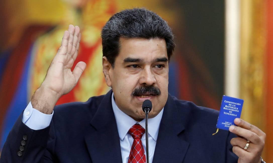Mercenários russo teriam sido levados à Caracas para garantir segurança do presidente venezuelano, Nicolas Maduro Foto: STRINGER / REUTERS