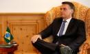 O presidente Jair Bolsonaro participa de reunião com o presidente da Colômbia, Iván Duque, em Davos, na Suíça Foto: Alan Santos/Presidência