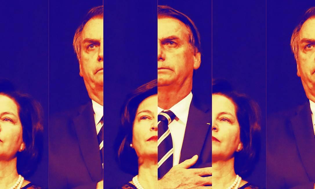 Raquel Dodge e Jair Bolsonaro Foto: Fotomontagem baseada em foto de Isac Nóbrega / Presidência