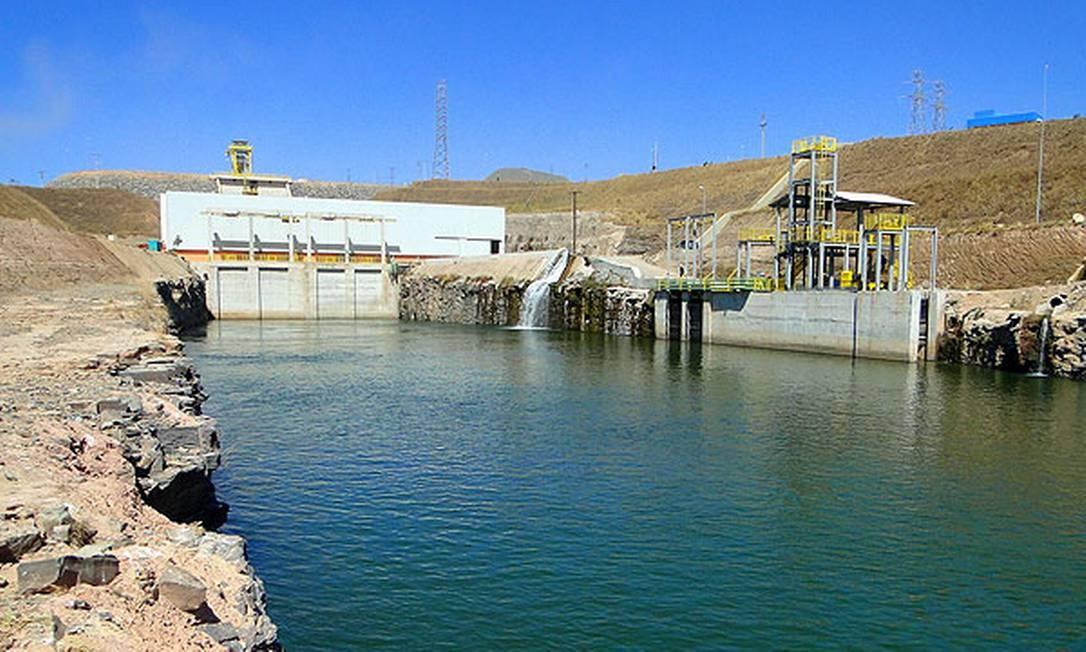 Usina hidrelétrica Retiro Baixo foi desligada; lama de barragem de Brumarinho deve chegar em dois dias Foto: Divulgação / Furnas