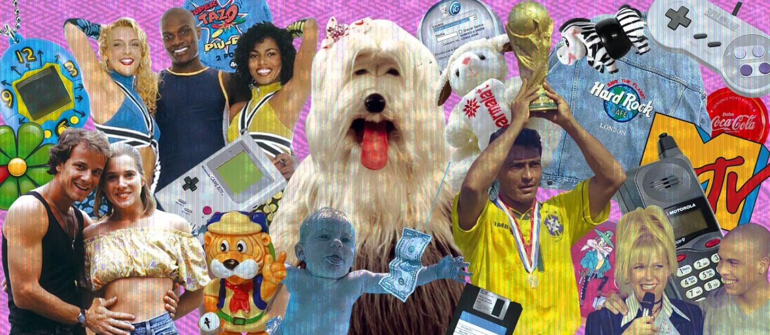 Ícones que marcaram a década de 1990 no Brasil Foto: Arte O Globo