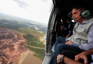 (Brumadinho - MG, 26/01/2019) O Presidente da República, Jair Bolsonaro, durante sobrevoo da região atingida pelo rompimento da barragem Mina Córrego do Feijão, em Brumadinho/MG. Foto: Isac Nóbrega/PR Foto: Isac Nóbrega/PR / Isac Nóbrega/PR
