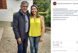 O cantor Caetano Veloso em foto feita na pousada Foto: Instagram / Reprodução