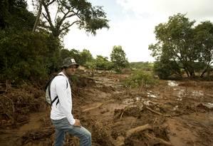 Primeira área atingida pela lama, em Córrego do Feijão, distrito de Brumadinho. Neste local ficavam o refeitório e a administração da Vale, e algumas casas e a pousada. Foto: Márcia Foletto / Agência O Globo