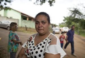 A mãe de Lidiane Paula trabalhava na pousada que foi soterrada, em Córrego do Feijão Foto: Márcia Foletto / Agência O Globo