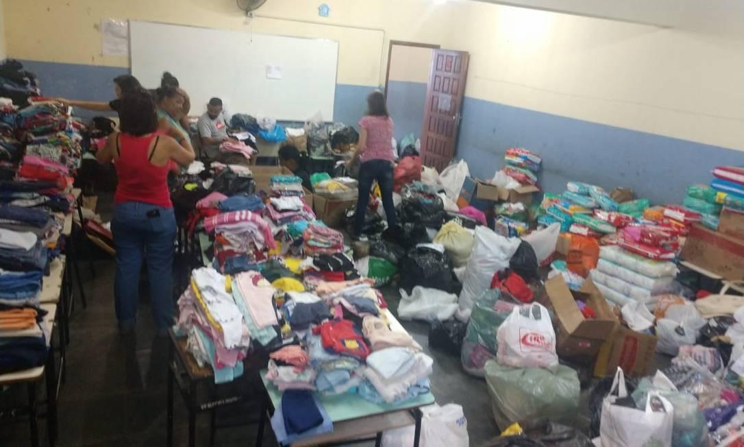 Doações para moradores de Brumadinho Foto: Reprodução / Janice Maia