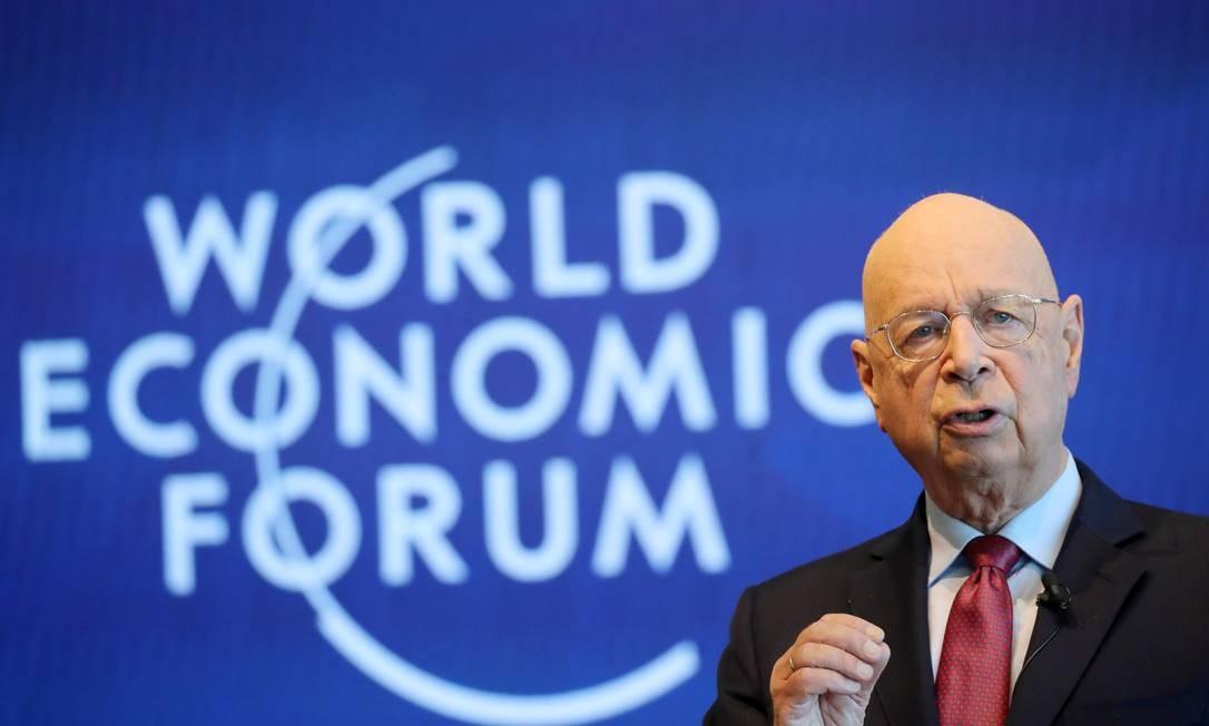"""Visão. Schwab, fundador do Fórum de Davos: """"A globalização 4.0 só começou, mas já estamos despreparados para ela"""" Foto: DENIS BALIBOUSE / REUTERS"""