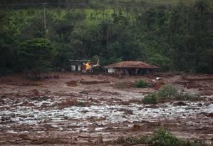 Casa destruída depois do rompimento de barragem da Mina do Feijão, da mineradora Vale, em Brumadinho (MG) Foto: Daniel Marenco / Agência O Globo
