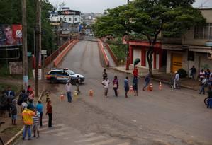 Defesa Civil interdita ponte principal de Brumadinho Foto: Daniel Marenco / Agência O Globo