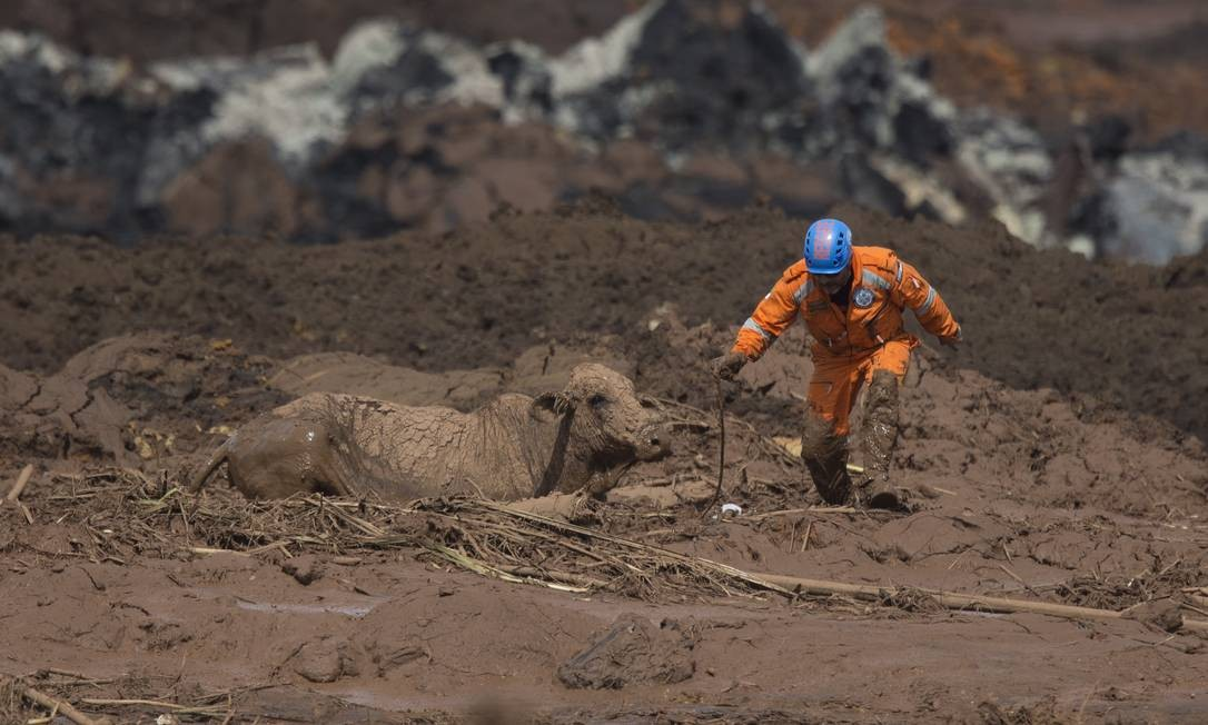 Mas o local estava sob risco de rompimento de outra barragem Márcia Foletto / Agência O Globo