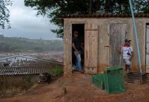 Região de Brumadinho afetada pela lama de rejeitos Foto: MAURO PIMENTEL / AFP
