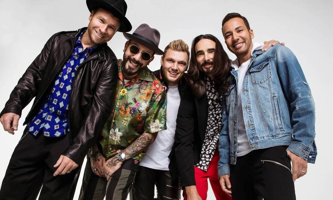 O grupo americano Backstreet Boys Foto: Divulgação