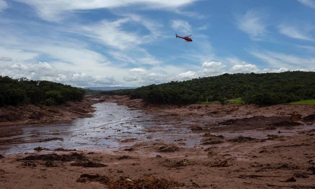 Barragem da Vale rompe na cidade de Brumadinho Foto: MAURO PIMENTEL / AFP