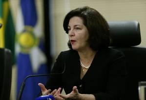 A procuradora-geral da República, Raquel Dodge, diz vai cobrar responsabilização por tragédia em Brumadinho Foto: Jorge William / Agência O Globo (29/11/2018)