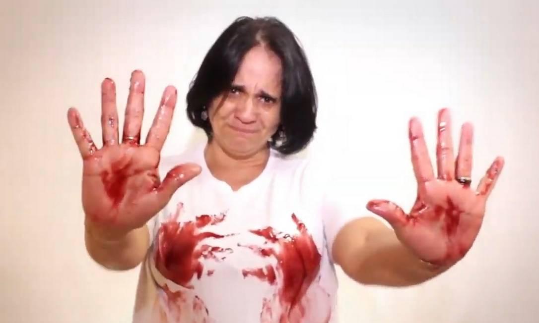 Damares Alves em campanha de 2013 contra projeto de lei que garantia atendimento para vítimas de violência sexual Foto: Reprodução