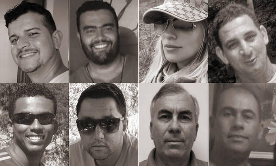Vítimas da rompimento de barragem de rejeitos em Brumadinho Foto: Editoria de Arte