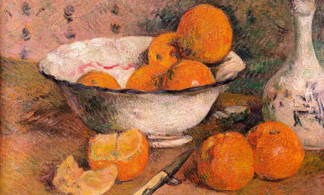 Natureza-morta com laranjas, obra de Paul Gauguin (1848-1903), Museu de Belas-Artes de Rennes Foto: PAUL GAUGUIN / BRIDGEMANIMAGES