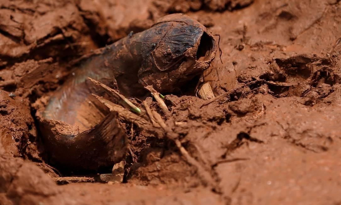 Nem mesmo peixes escaparam da destruição deixada pela tsunami de lama, liberada após o rompimento da barragem da Vale. O conteúdo tóxico invadiu o rio Paraopeba, que ganhou tom alaranjado logo após a tragédia e, agora, está irreconhecível ADRIANO MACHADO / REUTERS