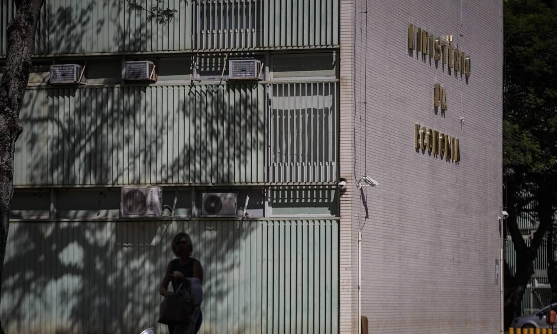 Fachada do Ministério da Economia, em Brasília Foto: Daniel Marenco/Agência O Globo/02-01-2019