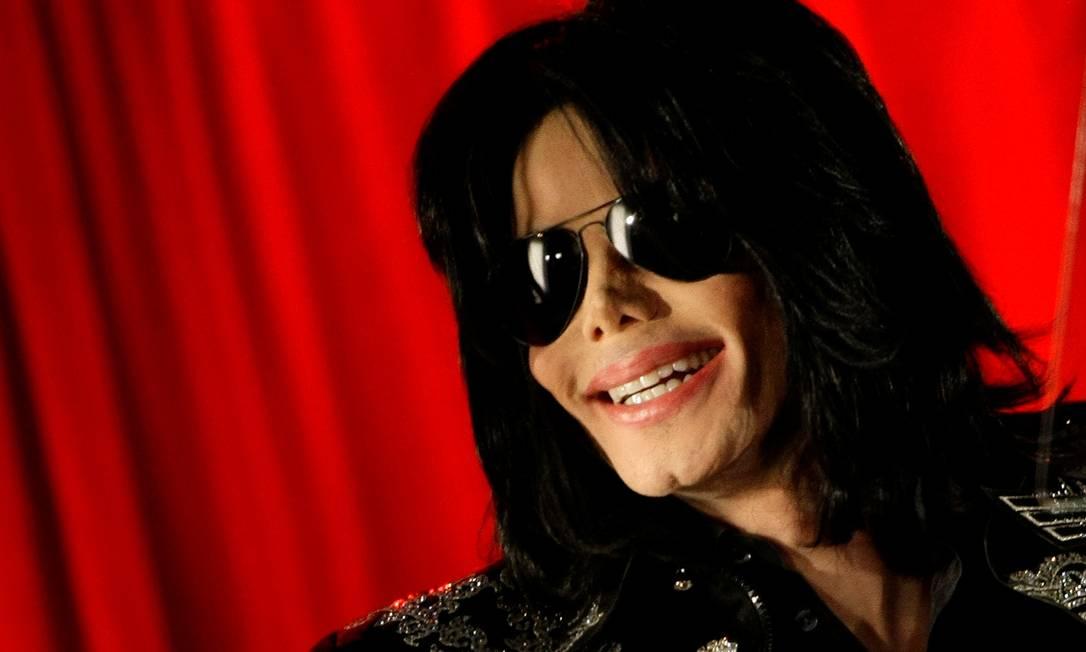 O cantor Michael Jackson durnate entrevista coletiva na O2 Arena, em Londres, em março de 2009 Foto: Stefan Wermuth / REUTERS