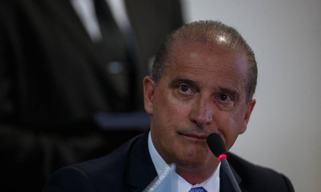 O ministro chefe da Casa Civil, Onyx Lorenzoni Foto: Daniel Marenco / Agência O Globo