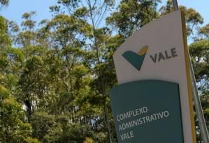 Entrada do prédio da Vale em Nova Lima, em Minas Gerais Foto: Washington Alves/Reuters
